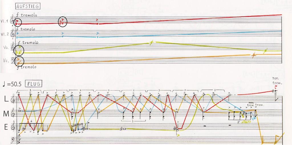 離陸、およびフォルメルの1度目の呈示 ©Stockhausen Foundation for music, Kuerten, Germany