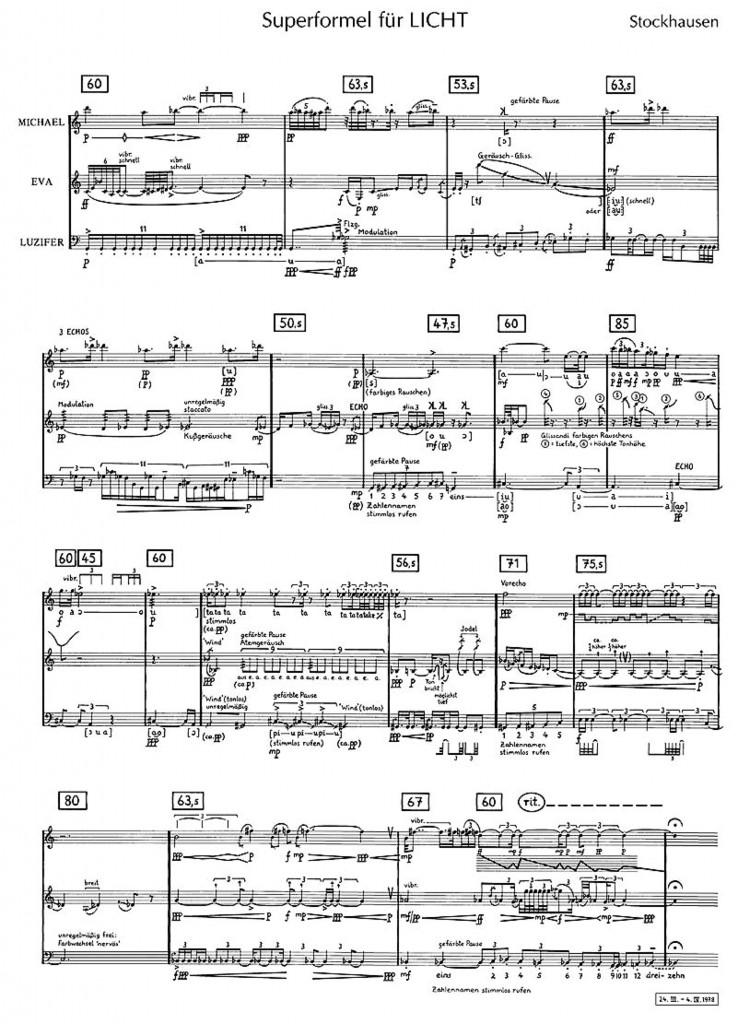 Stockhausen - Superformel fur Licht